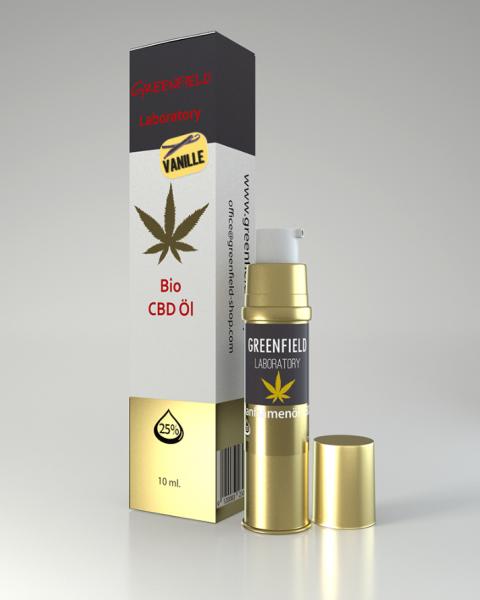 CBD Öl 25% (GOLDEXTRAKT) mit Vanille 10ml