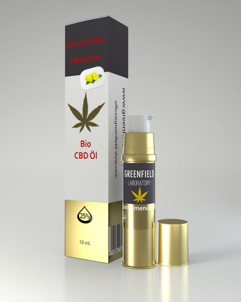 CBD Öl 25% (GOLDEXTRAKT) mit Zitrone 10ml