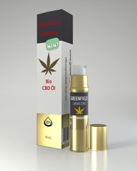 CBD Öl 25% (GOLDEXTRAKT) mit Pfefferminz